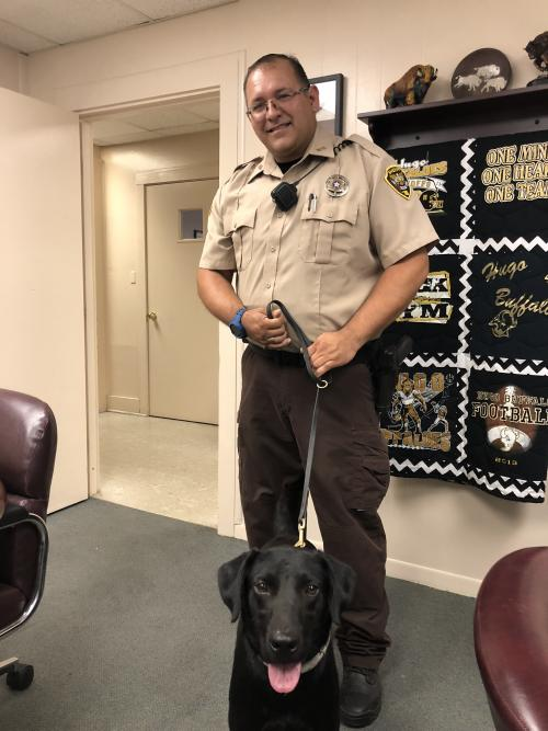 Picture of Deputy Miller and Niko
