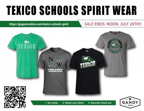 Texico Schools Spirit Wear