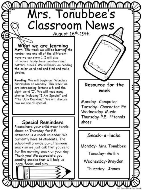 Newsletter 8/16-19