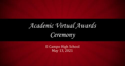 Academic Virtual Awards Ceremony