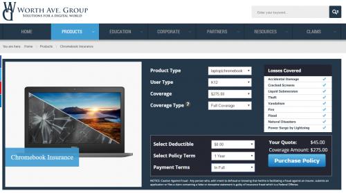 Optional Chromebook Insurance