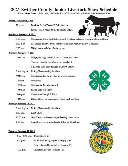 Swisher County schedule