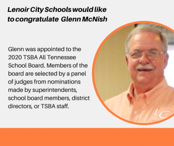 Glenn McNish Sr. Appointed to 2020 TSBA All Tennessee School Board