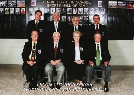 Sports Hall of Fame Committee Hall of Fame Committee 2003 - 2008 1st row: Glenn McNish, Gene Hamby, Nancy Beaty, Glenn Williams 2nd Row: Barry White, Ron Tilley, Dale Barton, Rick Chadwick