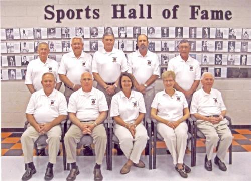 Hall of Fame Committee 2009 - 2014 1st Row: Gilbert Luttrell, Gary Perkey, Rosemary Quillen, Nancy Beaty, Gene Hamby 2nd Row: Glenn Williams, Ron Tilley, Barry White, Junior Collins, Rick Chadwick