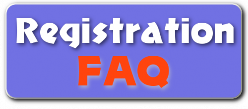 Registration FAQ