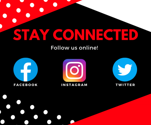 Stay connected through social media