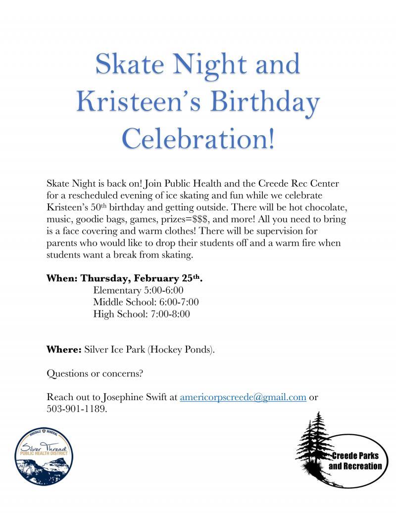 Skate Night 2/25