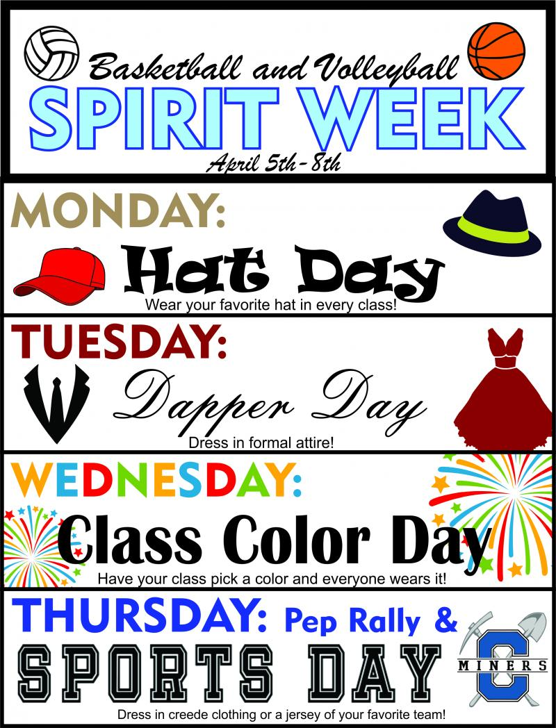 Spirit Week and Pictures Next Week