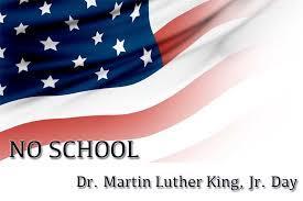 No School Monday 1/18/21