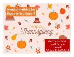 Thanksgiving Help from Silver Thread Public Health