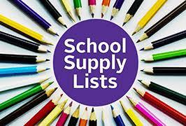 Supply Lists for 2021-2022