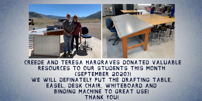 donated drafting table