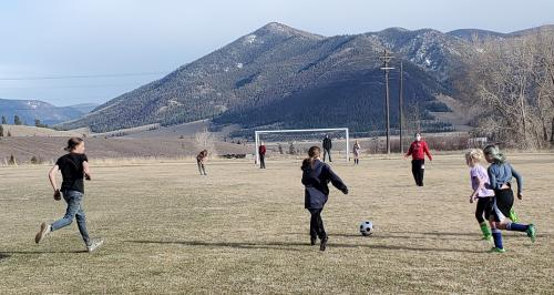Levi and soccer team