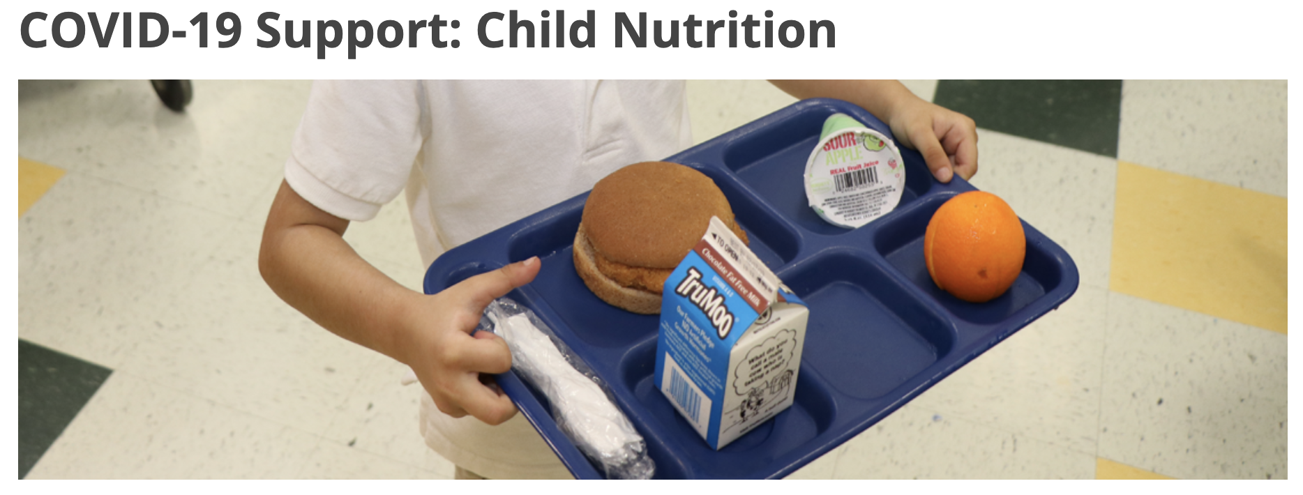 COVID-19 Support: Child Nutrition