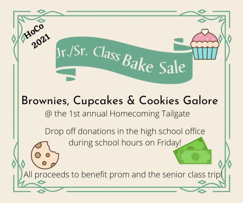 Jr./Sr. Class Bake Sale
