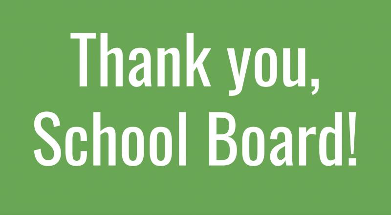 School Board Appreciation Student Presentation