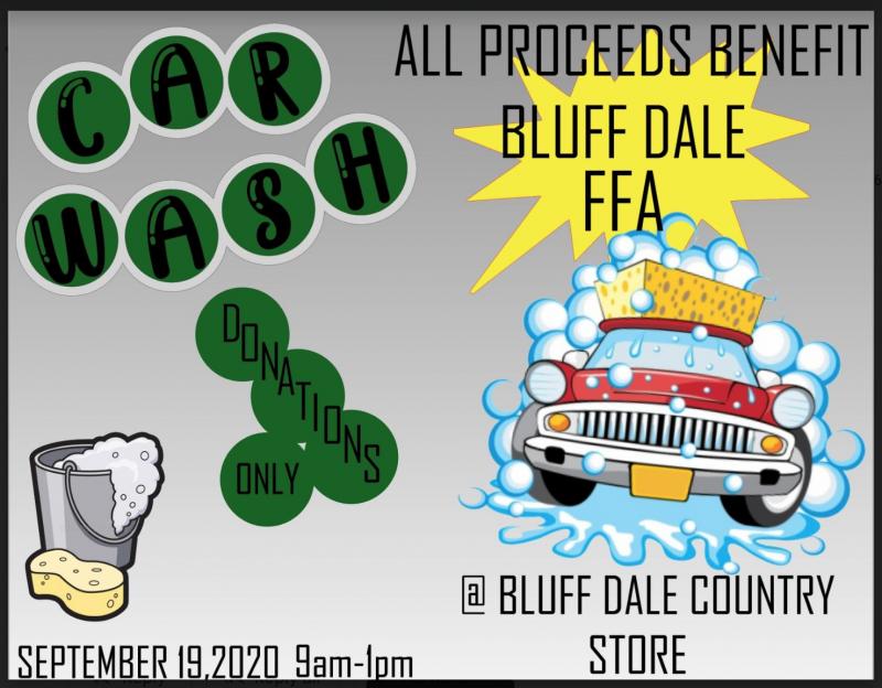 Bluff Dale FFA Car Wash