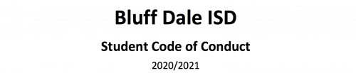 BDISD Student Code of Conduct