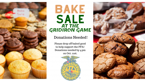 Bake Sale at the Gridiron Game