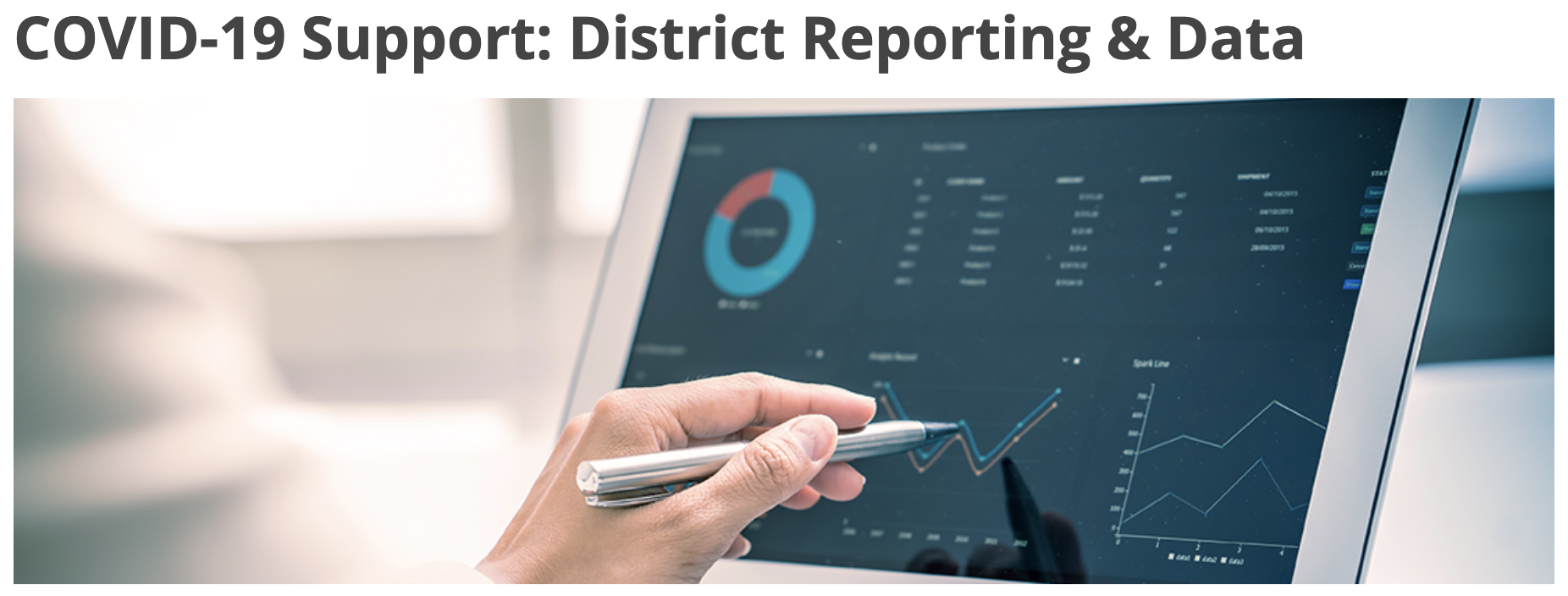 COVID-19 Support: District Reporting & Data
