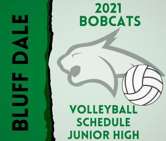 2021 Jr. High Volleyball Schedule