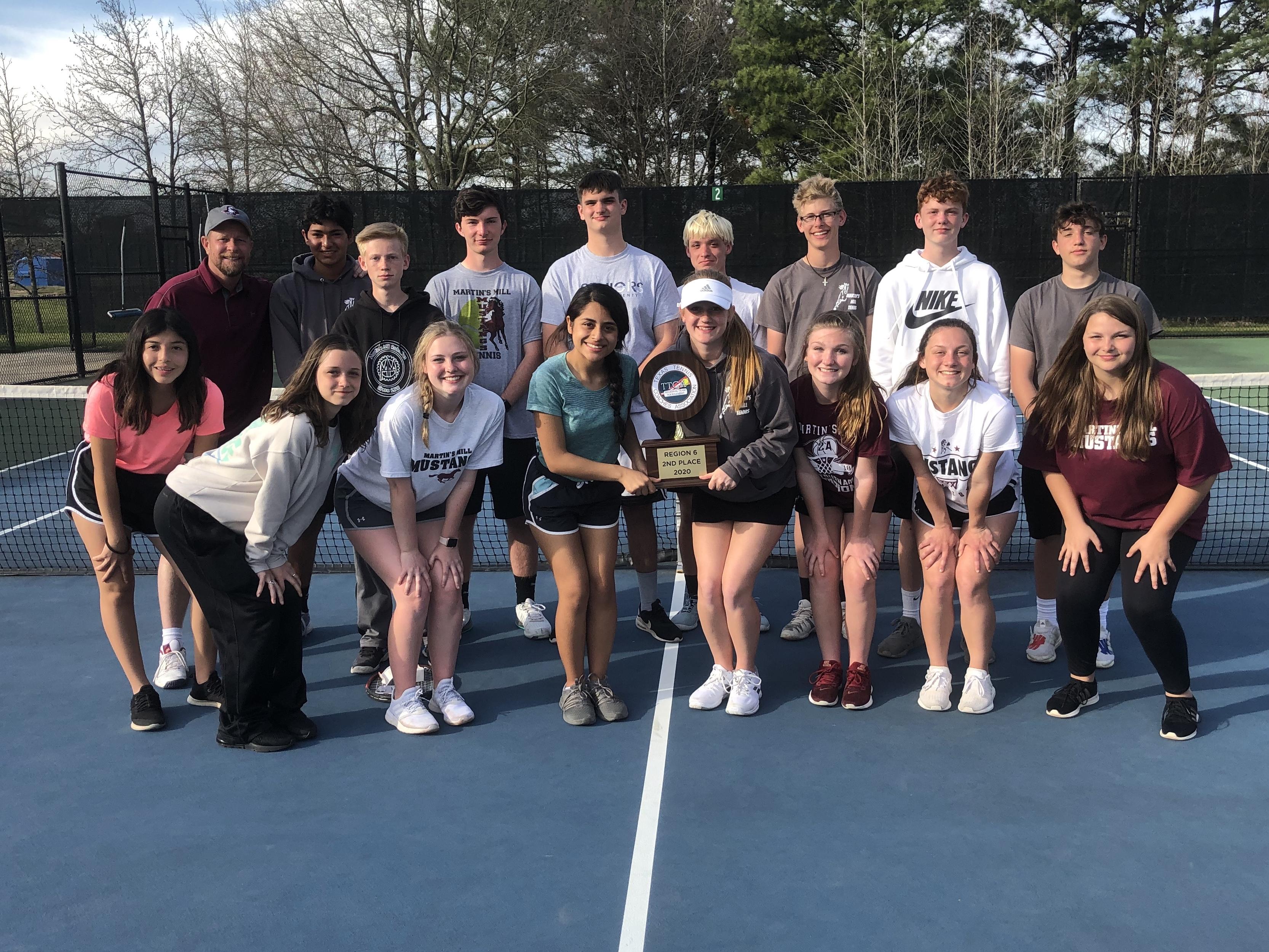 TTCA Team Tennis - Region 6 - 2nd Place