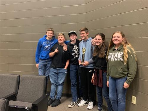 2020 Jr. High Quiz Bowl Team
