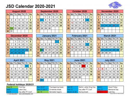 2020-2021 JSD Calendar