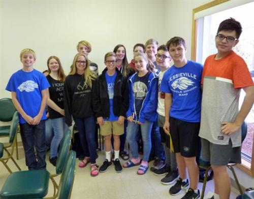 Jessieville Middle School Gifted and Talented Inter-generational Quiz Bowl Match Team