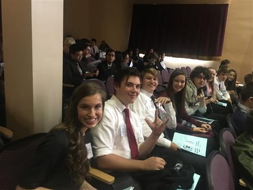UN Model Team 2017 at opening session