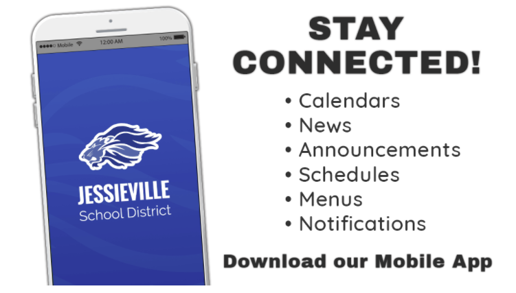 stay connected! calendars, news, announcements, schedules, menus, notifications. Download our mobile app!