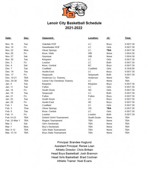 basketball schedule 2021