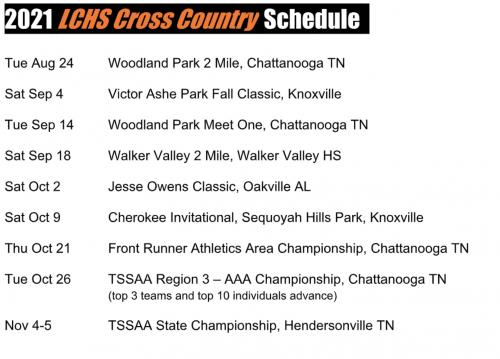 Track CC schedule 2021