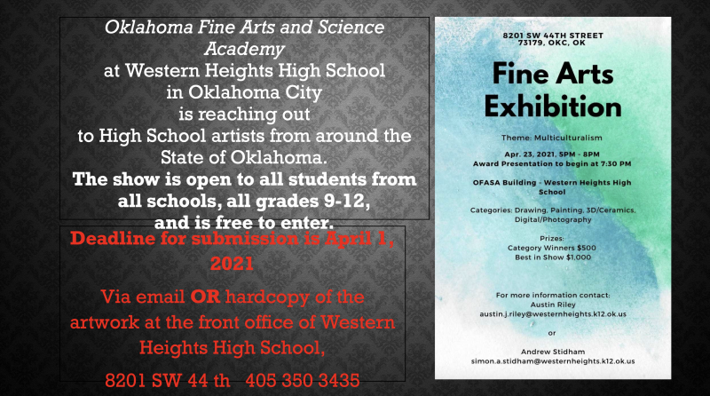 Fine Arts Exhibition Submissions Needed