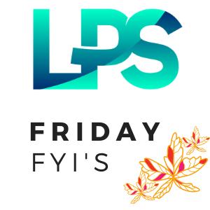 Friday FYI's