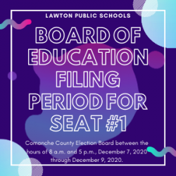 LPS Board of Education Filing Period Opens Dec. 7 for Seat #1