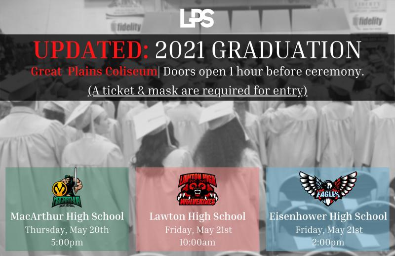 Class of 2021 Graduation UPDATE: New Venue