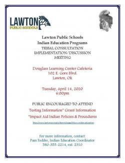INDIAN EDUCATION PROGRAM: TRIBAL CONSULTATION MEETING