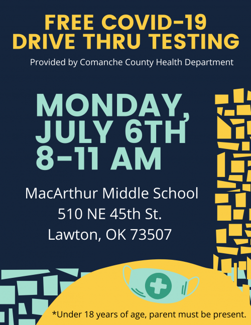Free COVID-19 Test Mon., July 6
