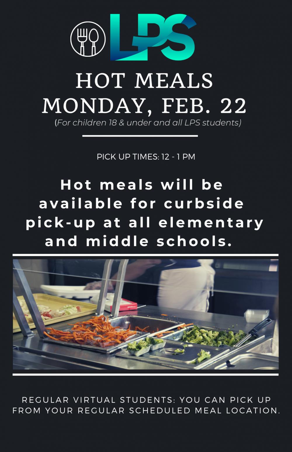 Feb. 22 meals
