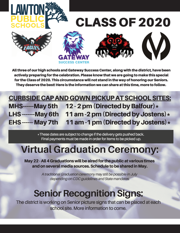 Curbside cap and gown pickup