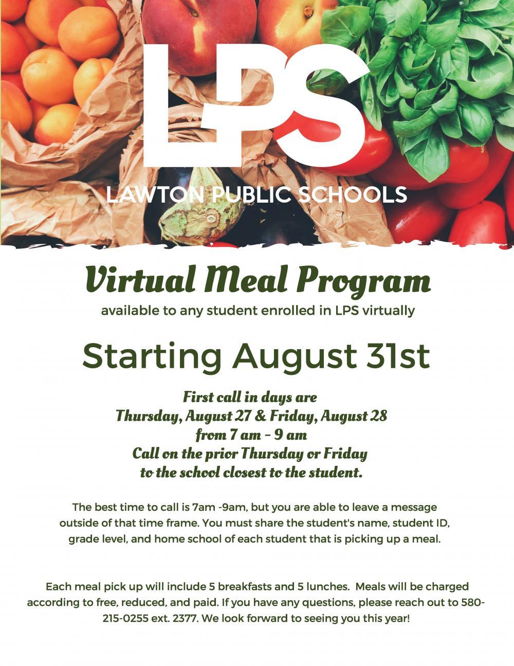 Virtual Meal Program