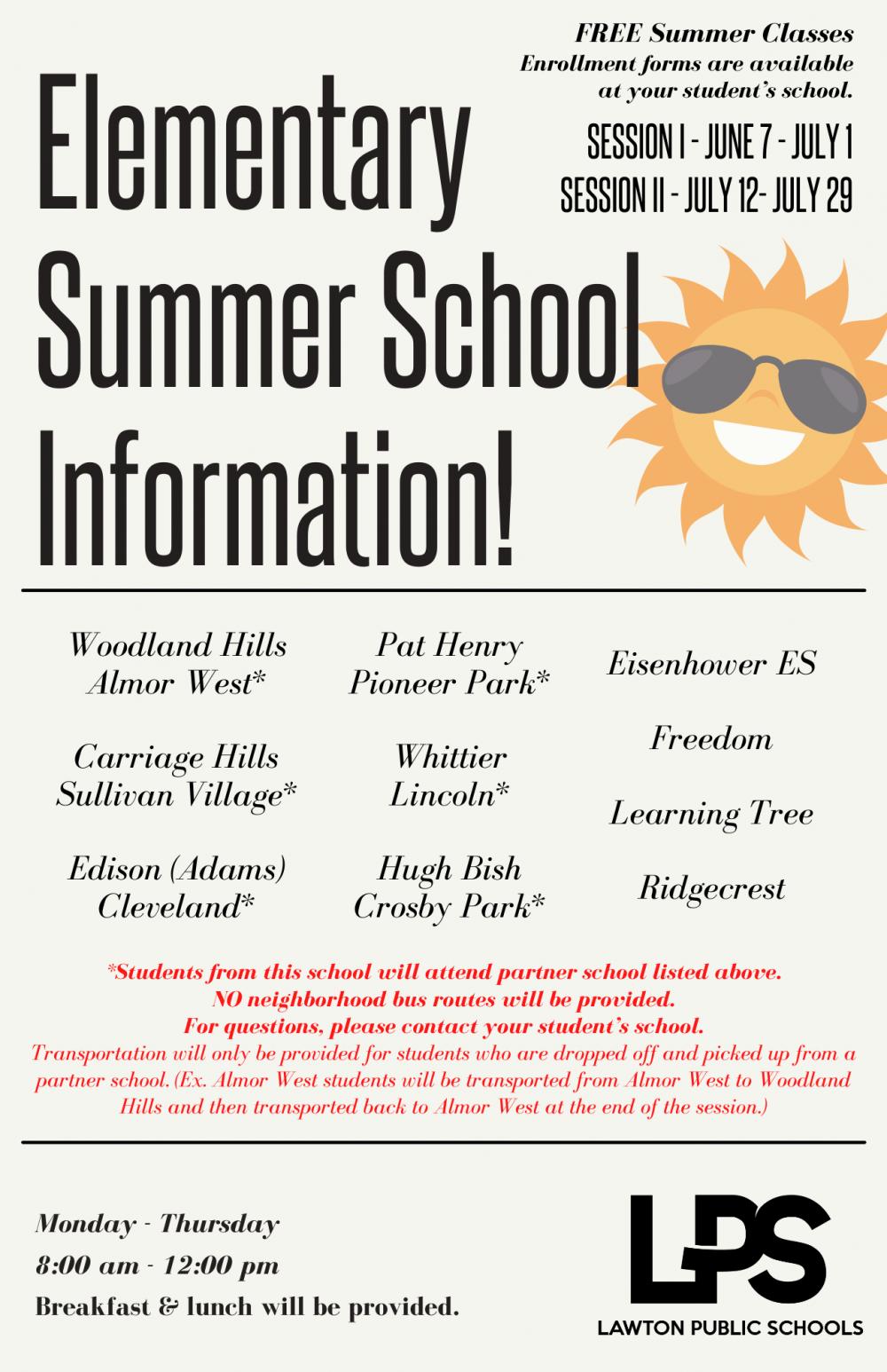 Elementary Summer School