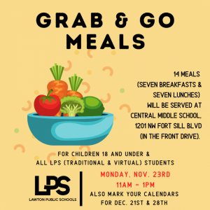 Grab and Go MEAL information for children 18 & under