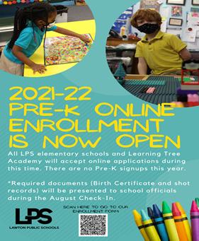 Pre-K Sign Ups 2021/2022 School Year
