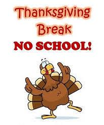 Thanksgiving Break turkey image