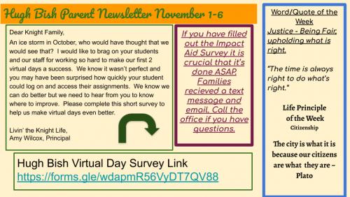 1/2 Parent Newsletter