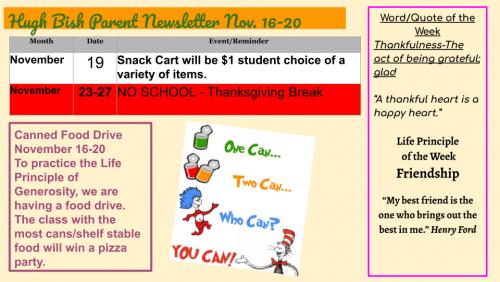 11/16 Parent Newsletter pg 2