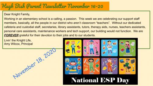11/16 Parent Newsletter